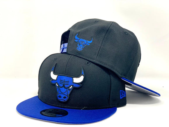 CHICAGO BULLS BLACK  ROYAL NEW ERA SNAPBACK