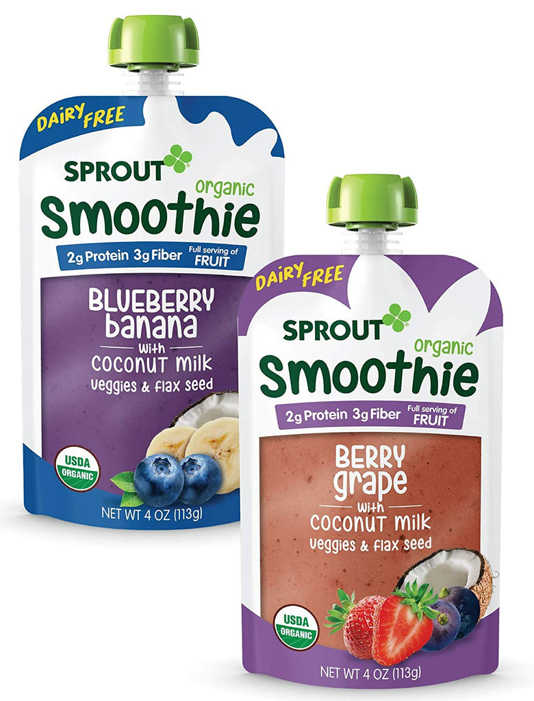 Baby Food Pouches, Toddler Smoothie (Dairy Free) Variety Pack, 12 count
