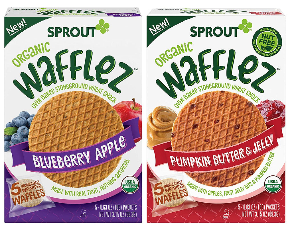 Wafflez Toddler Snack Variety Pack (Blueberry Apple, Pumpkin Butter & Jelly), 4 count