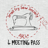 Small Fry Sewing Society - 4 Class Flex Pass (taxes included)