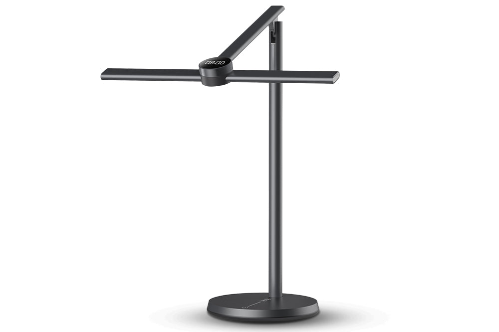 EZVALO Black Dimmable LED Desk Lamp with Adjustable Arm
