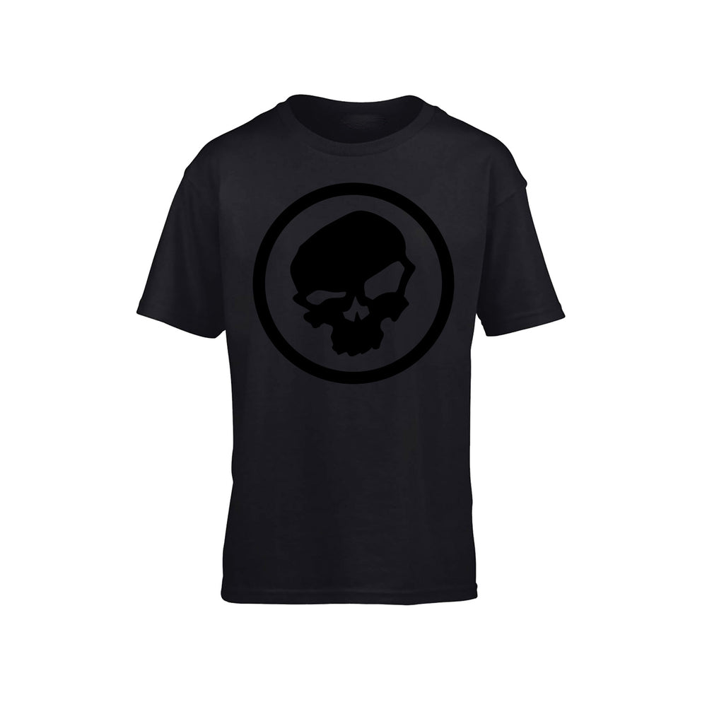 Black on Black Skull Logo - Urban Pirate