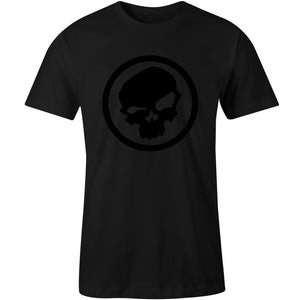 Black on Black Skull Logo