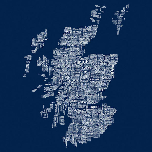 Scotland Map Names - Navy