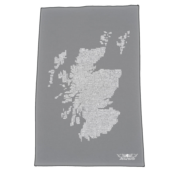 Scotland Map Names - Slate - Urban Pirate
