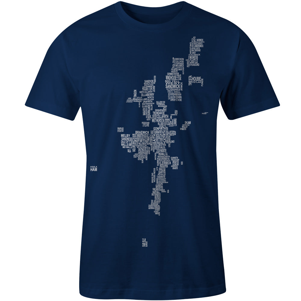 Shetland Map Names - Navy - Urban Pirate