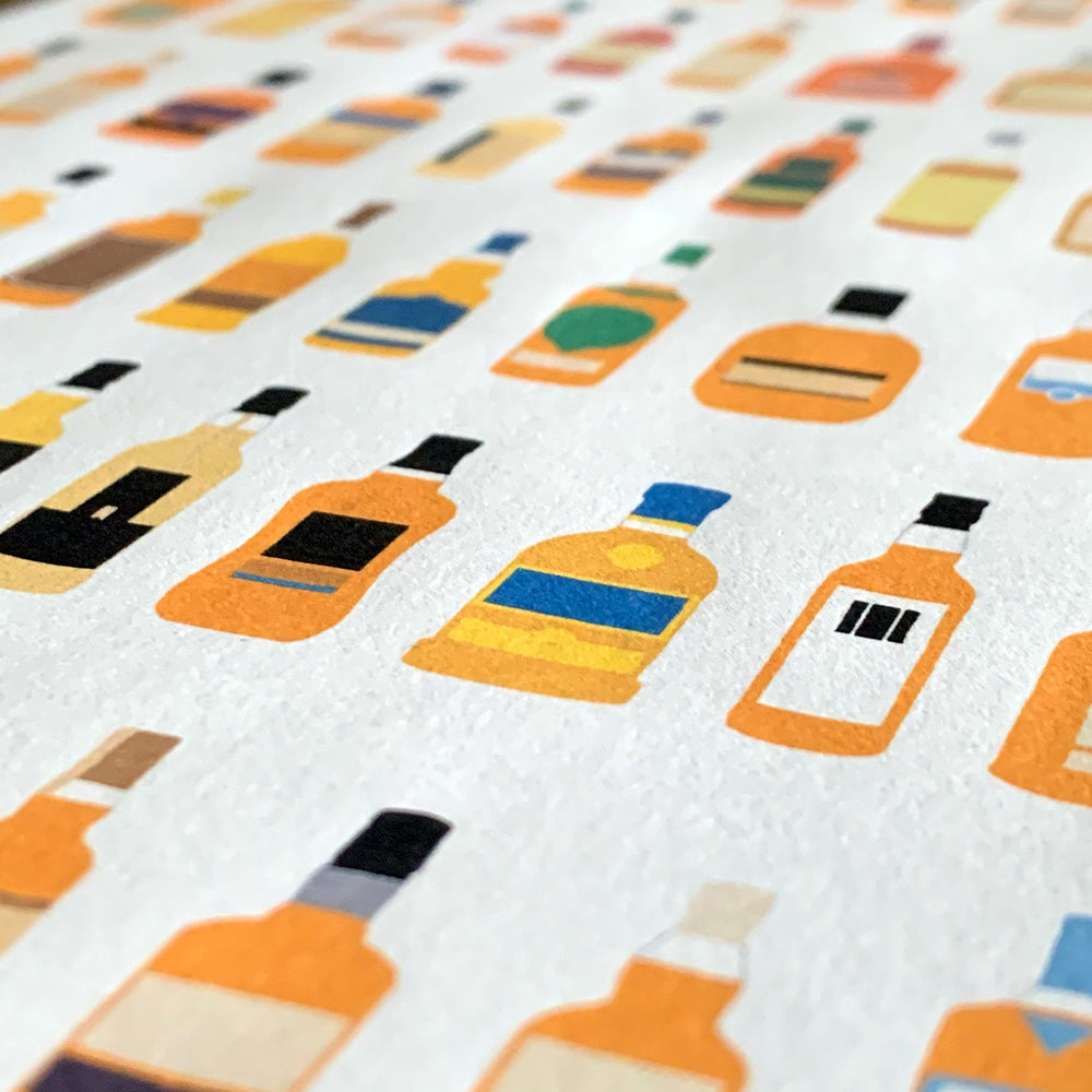 Whisky bottle art print every whisky bottle in scotland full colour close up