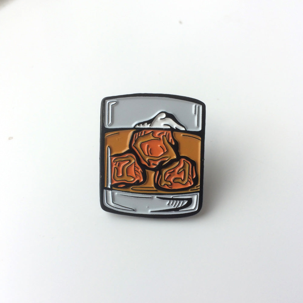 Whisky Glass Pin - Urban Pirate