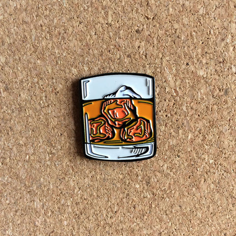 Whisky Glass Pin