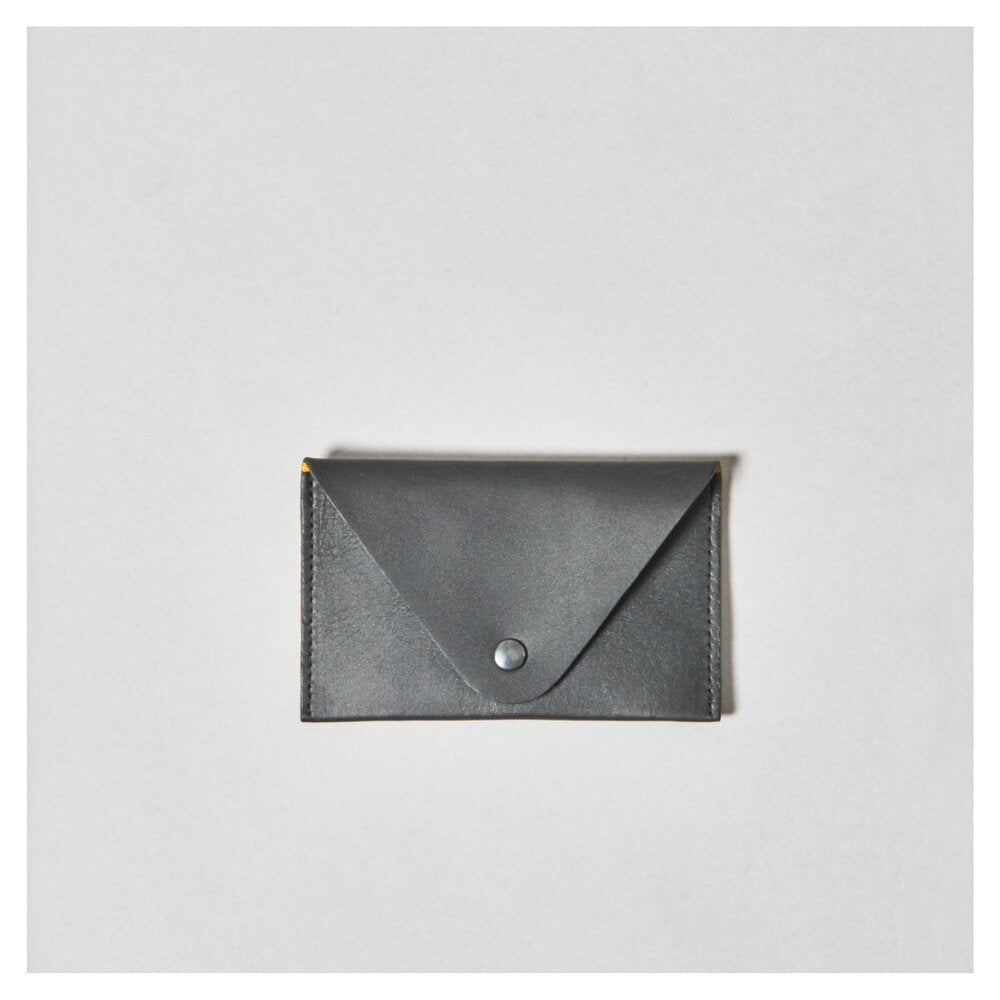 SMALL MONEY & CARD PURSE - black, inside natural