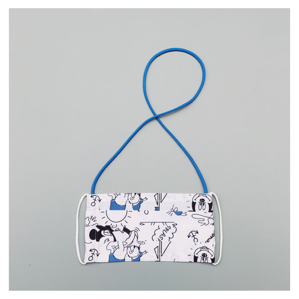 DISNEY FACE MASK WITH BLUE NECK CORD (M)