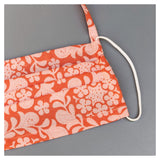 ORANGE FLOWER FACE MASK WITH NECK CORD CHOICE (M)