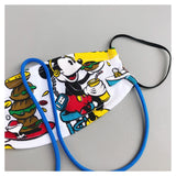 KIDS* EATING MICKEY FACE MASK WITH NECK CORD (S)