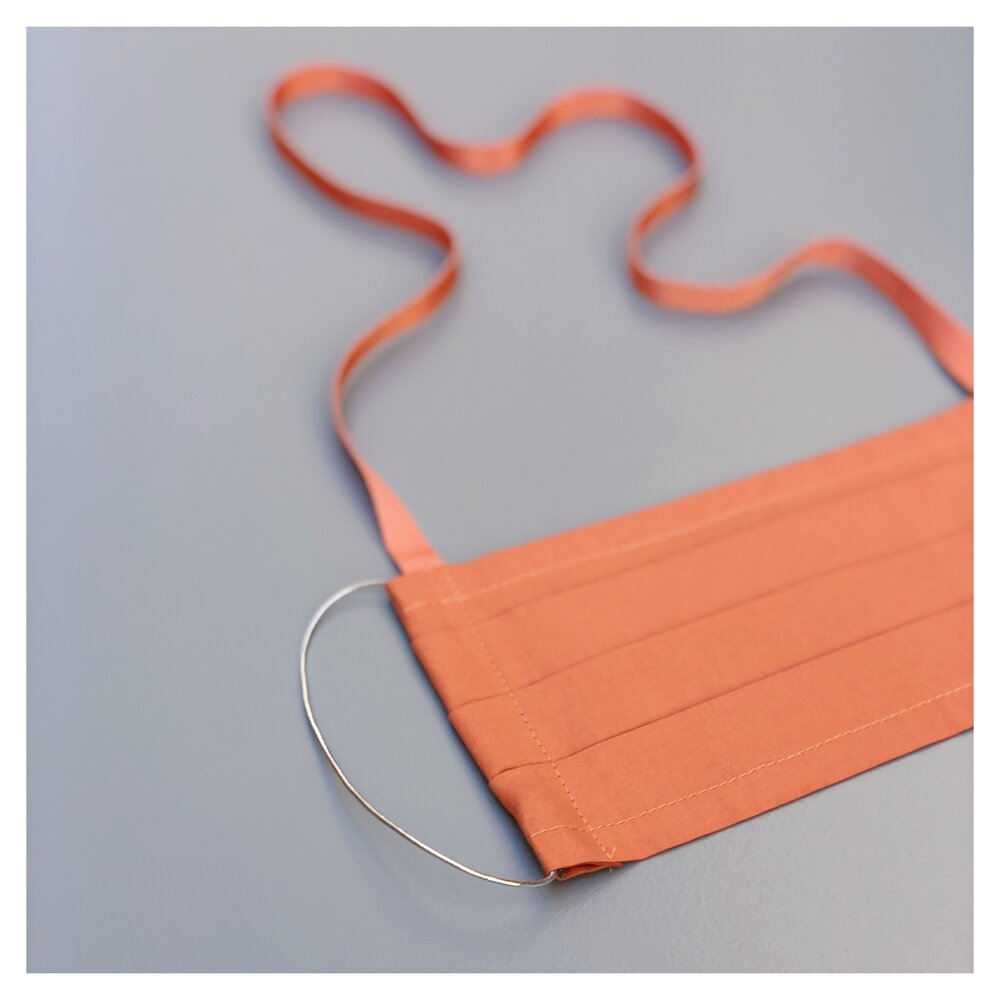 APRICOT FACE MASK WITH NECK CORD CHOICE (M)
