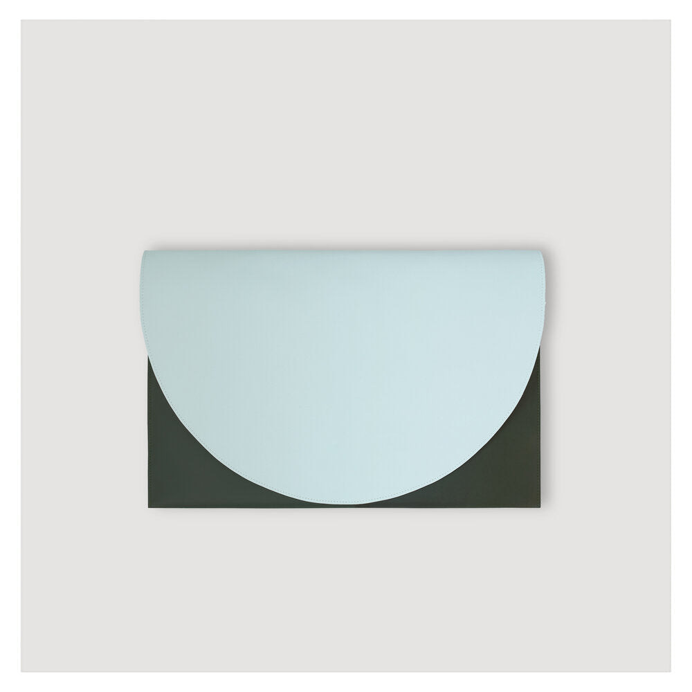 HALF MOON FILE fir green - light blue