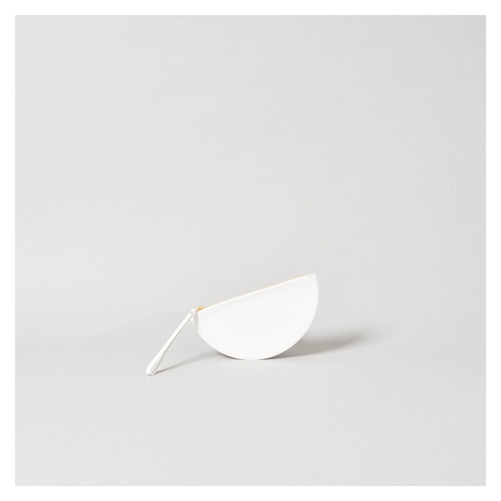 HALF MOON WALLET white