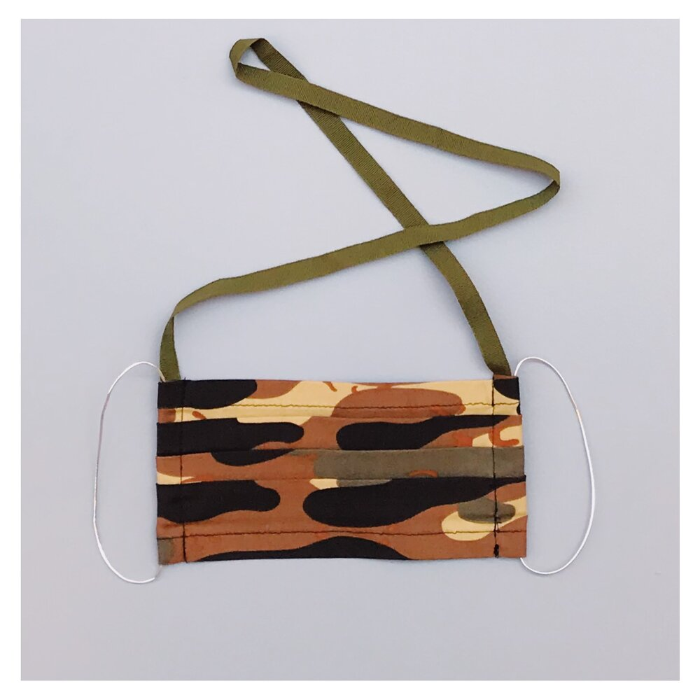 CAMOUFLAGE FACE MASK WITH NECK CORD (M)