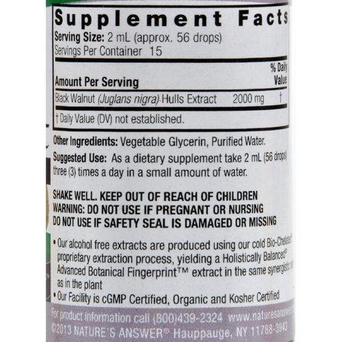 Nature's Answer - Black Walnut Hulls Alcohol Free - 1 fl oz