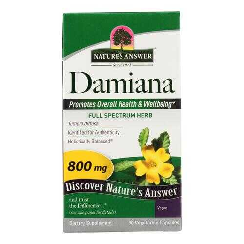 Nature's Answer - Damiana Leaf - 90 Vegetarian Capsules
