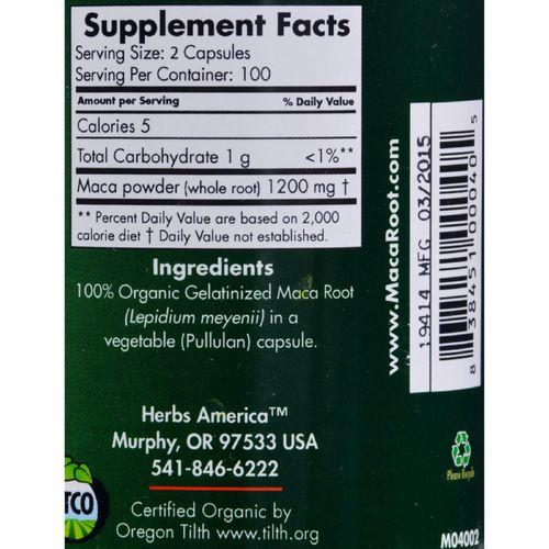Maca Magic Organic Maca Magic - 200 Capsules