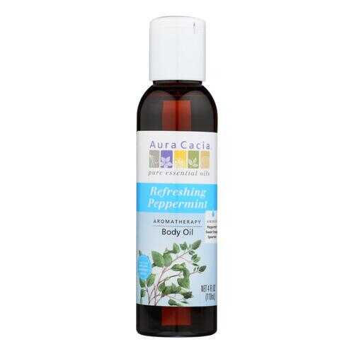 Aura Cacia - Aromatherapy Bath Body and Massage Oil Peppermint Harvest - 4 fl oz