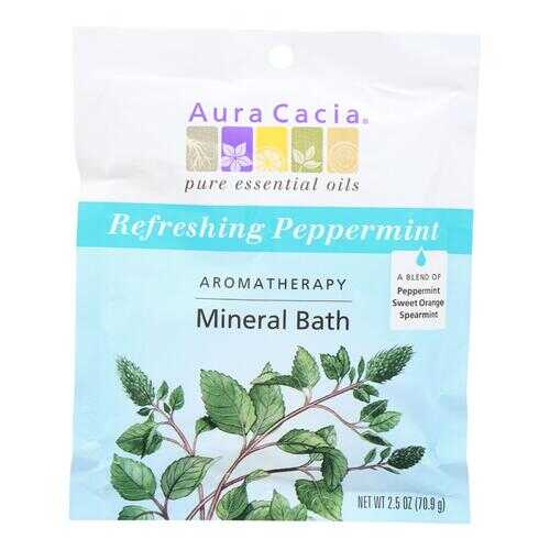 Aura Cacia - Aromatherapy Mineral Bath Peppermint Harvest - 2.5 oz - Case of 6