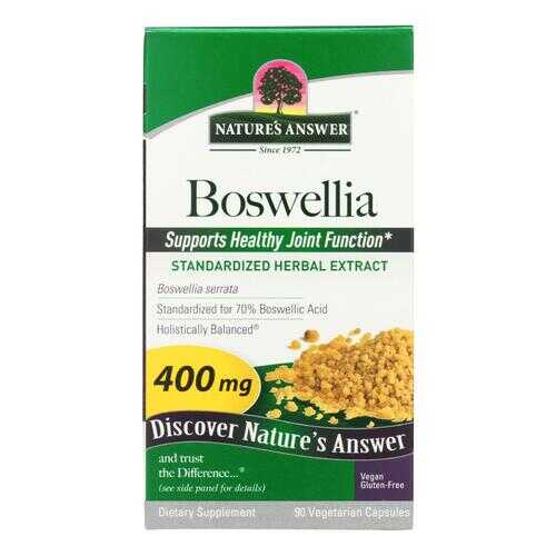 Nature's Answer - Boswellia Extract - 90 Vegetarian Capsules