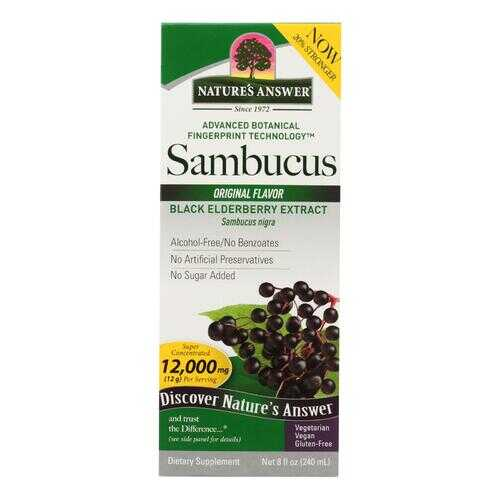 Nature's Answer - Sambucus nigra Black Elder Berry Extract - 8 fl oz