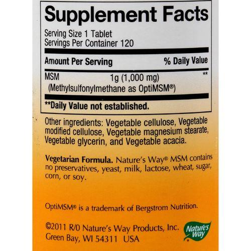 Nature's Way - MSM - 1000 mg - 120 Tablets