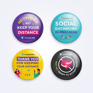 Social Distancing Badges