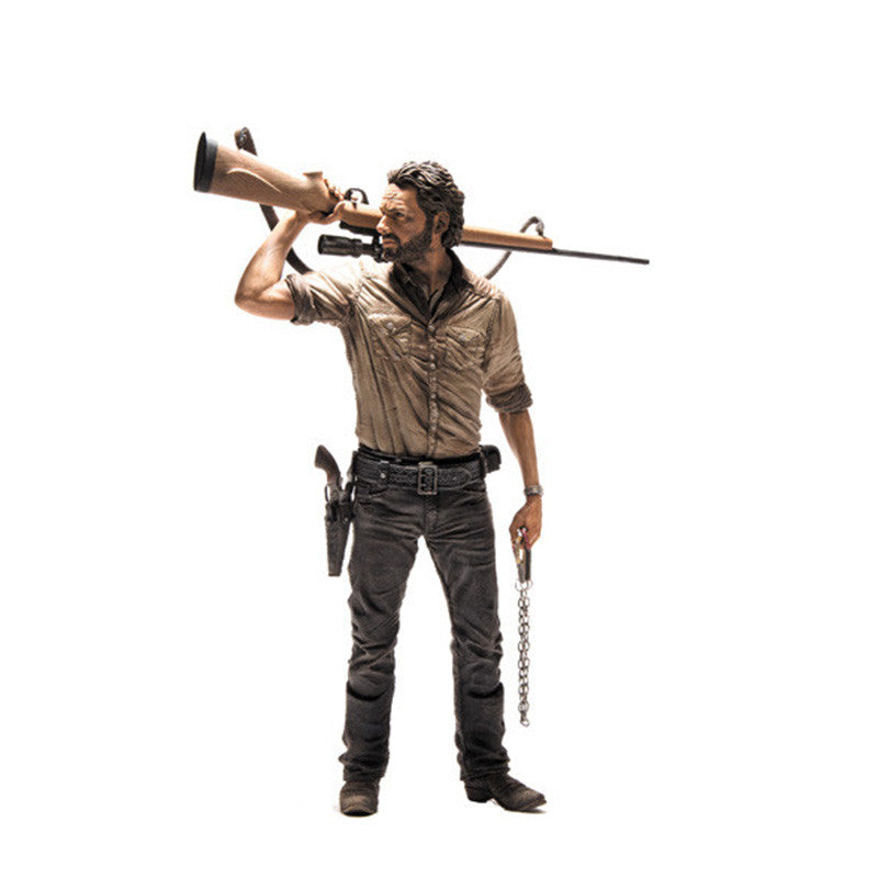 "AMC's THE WALKING DEAD Rick Grimes 10"" Deluxe Action Figure"