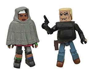 THE WALKING DEAD Minimates Series 4 - Hooded Michonne and Gabe