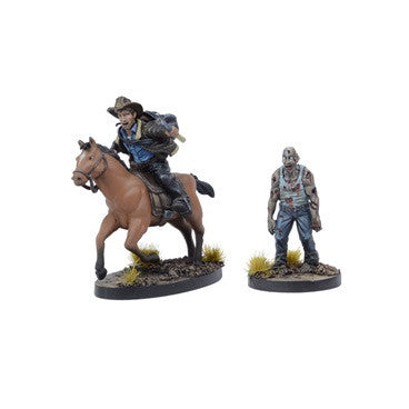 THE WALKING DEAD: All Out War Miniatures Game - Rick on Horse Booster