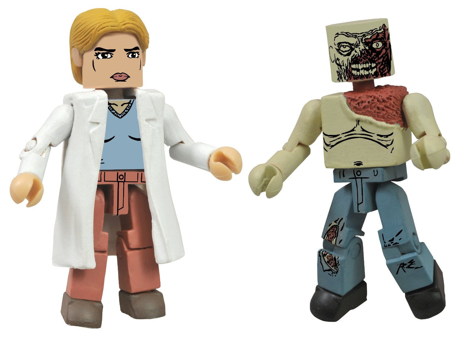 THE WALKING DEAD Minimates Series 4 - Alice and Shoulder Zombie