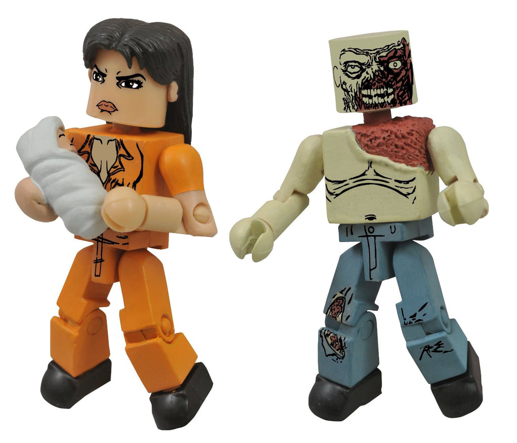 THE WALKING DEAD Minimates Series 4 - Prison Lori and Shoulder Zombie
