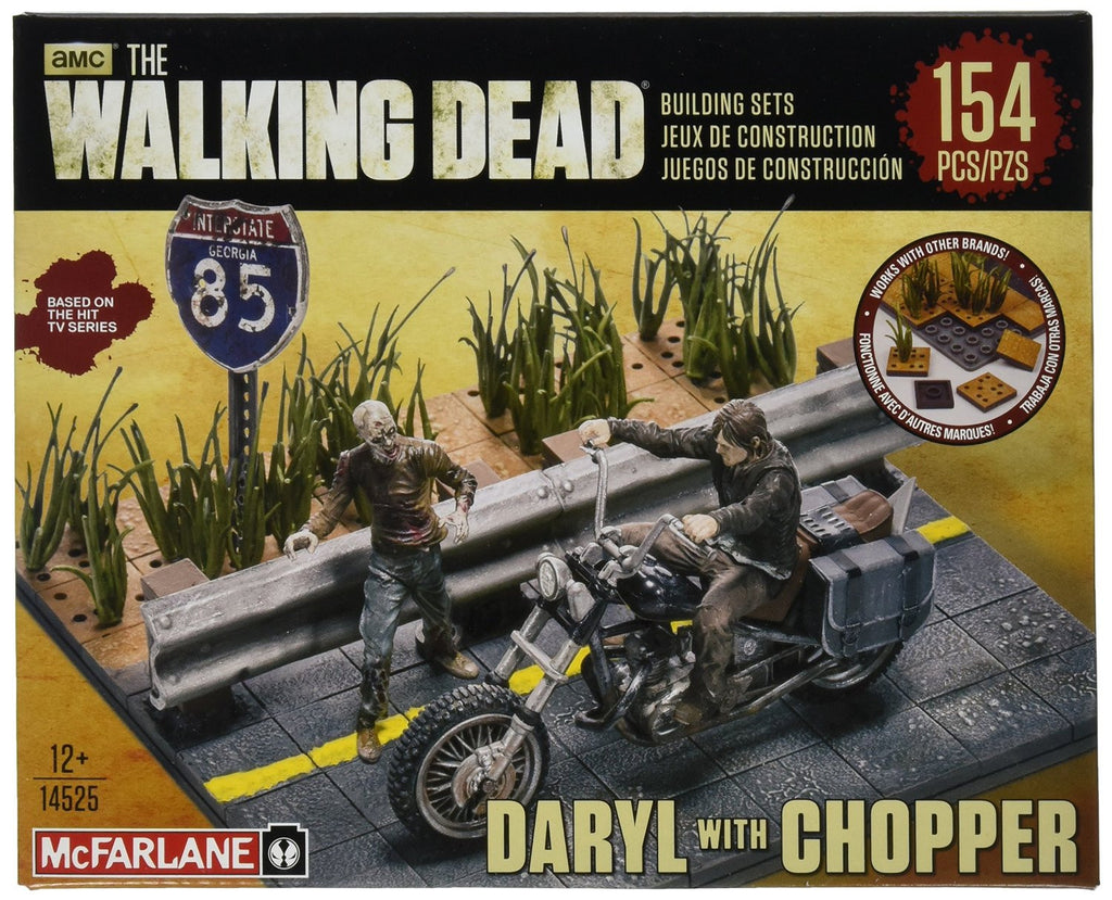 AMC's THE WALKING DEAD Construction Set - Daryl Dixon with Chopper