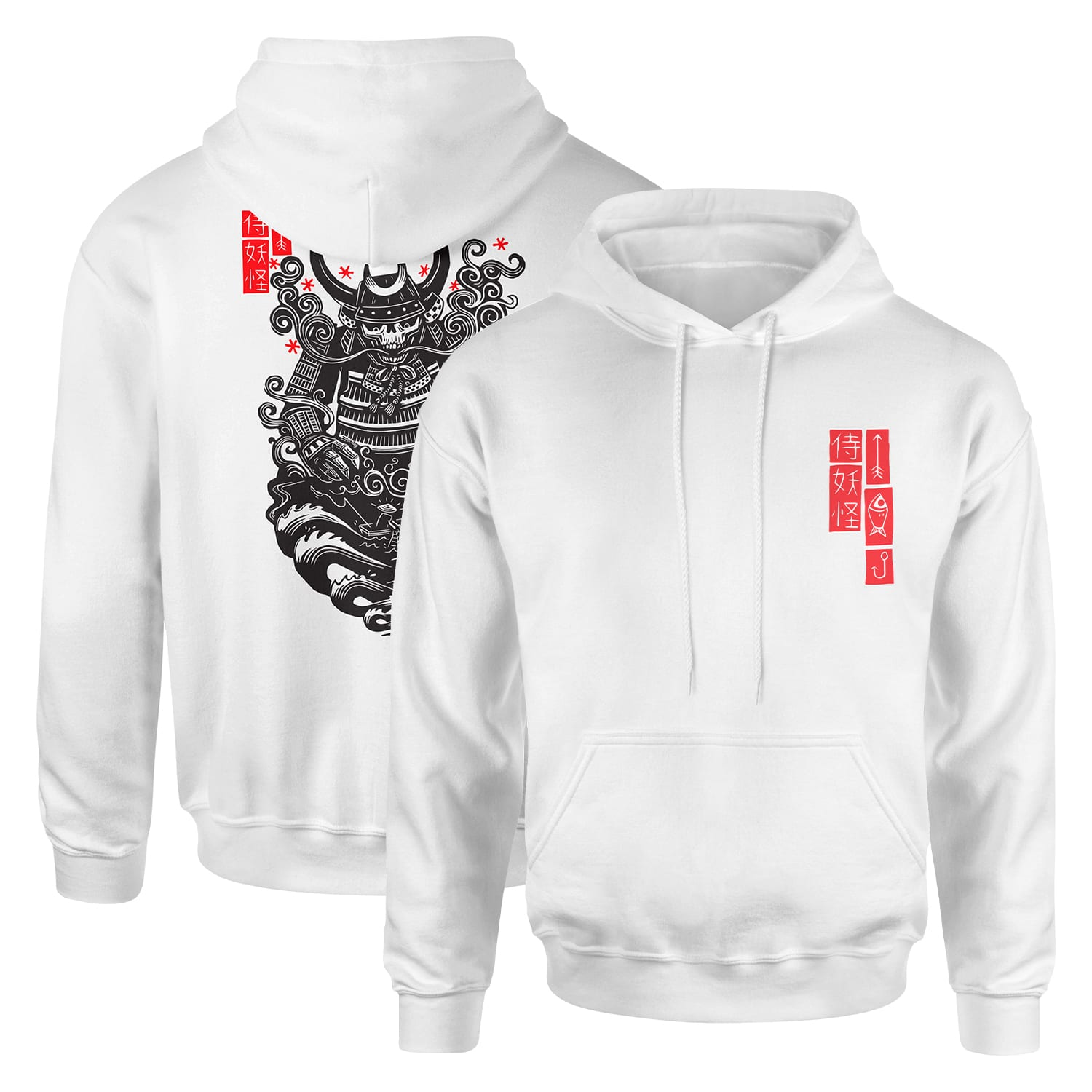 "Attack Peter  ""Ghost Samurai ""- White Hoodie"