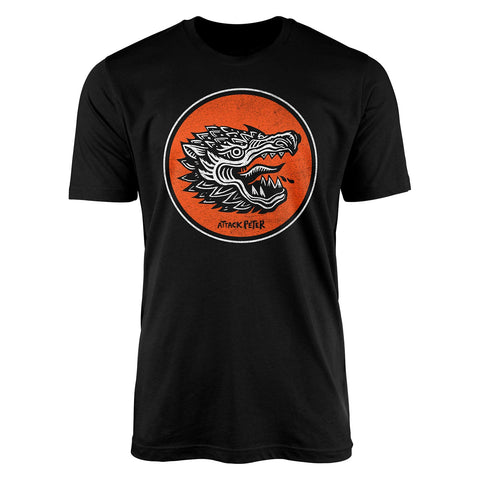 "Attack Peter ""Dragon"" - Black Unisex T-Shirt"