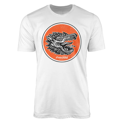 "Attack Peter ""Dragon"" - White Unisex T-Shirt"
