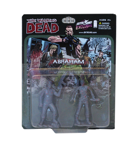 THE WALKING DEAD - Abraham PVC Figure 2-Pack (Bloody Grey)