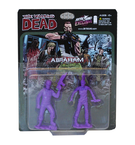 THE WALKING DEAD - Abraham PVC Figure 2-Pack (Purple)