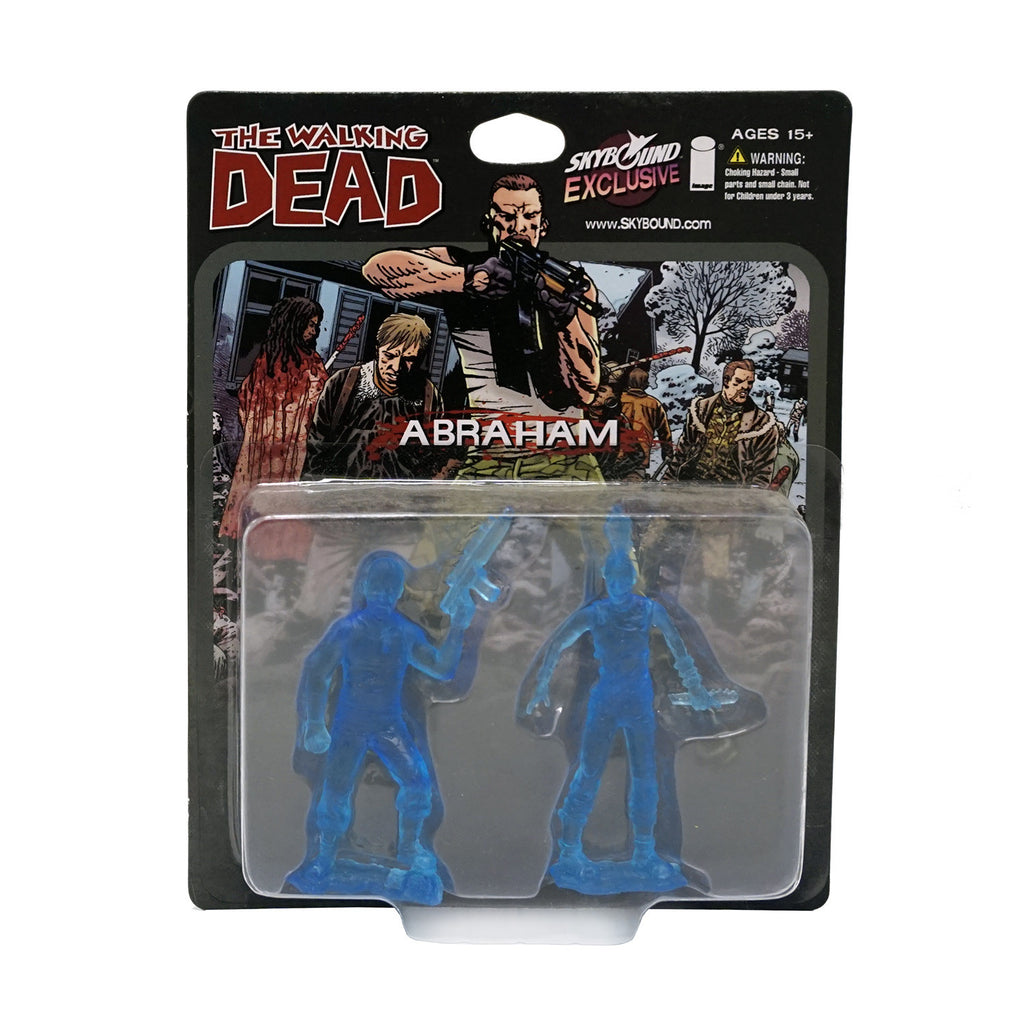 THE WALKING DEAD - Abraham PVC Figure 2-Pack (Translucent Blue)