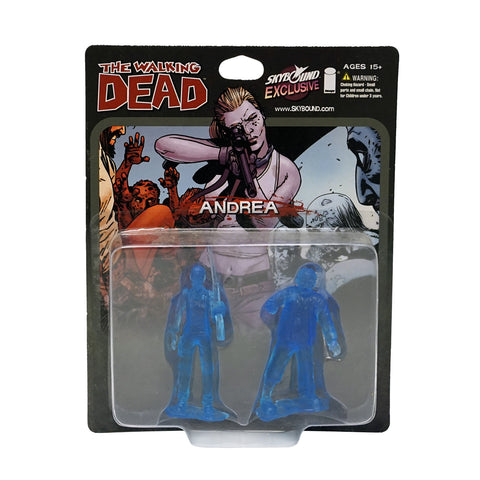 THE WALKING DEAD - Andrea PVC Figure 2-Pack (Translucent Blue)