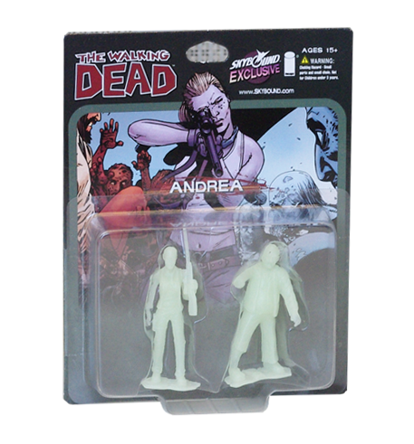 THE WALKING DEAD - Andrea PVC Figure 2-Pack (Glow-in-the-Dark)