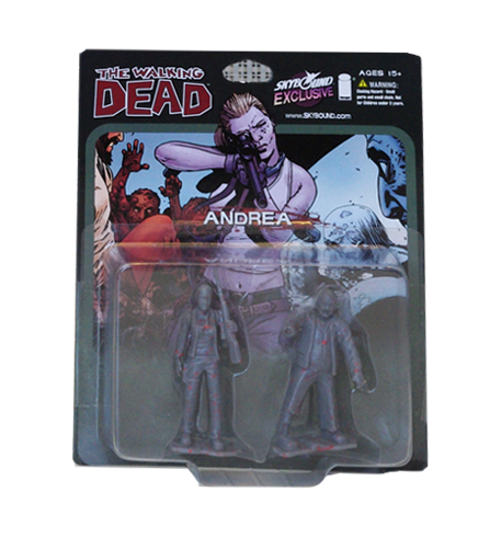 THE WALKING DEAD - Andrea PVC Figure 2-Pack (Bloody Grey)