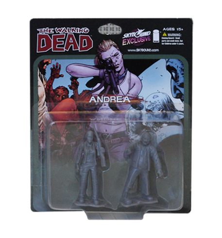 THE WALKING DEAD - Andrea PVC Figure 2-Pack (Grey)