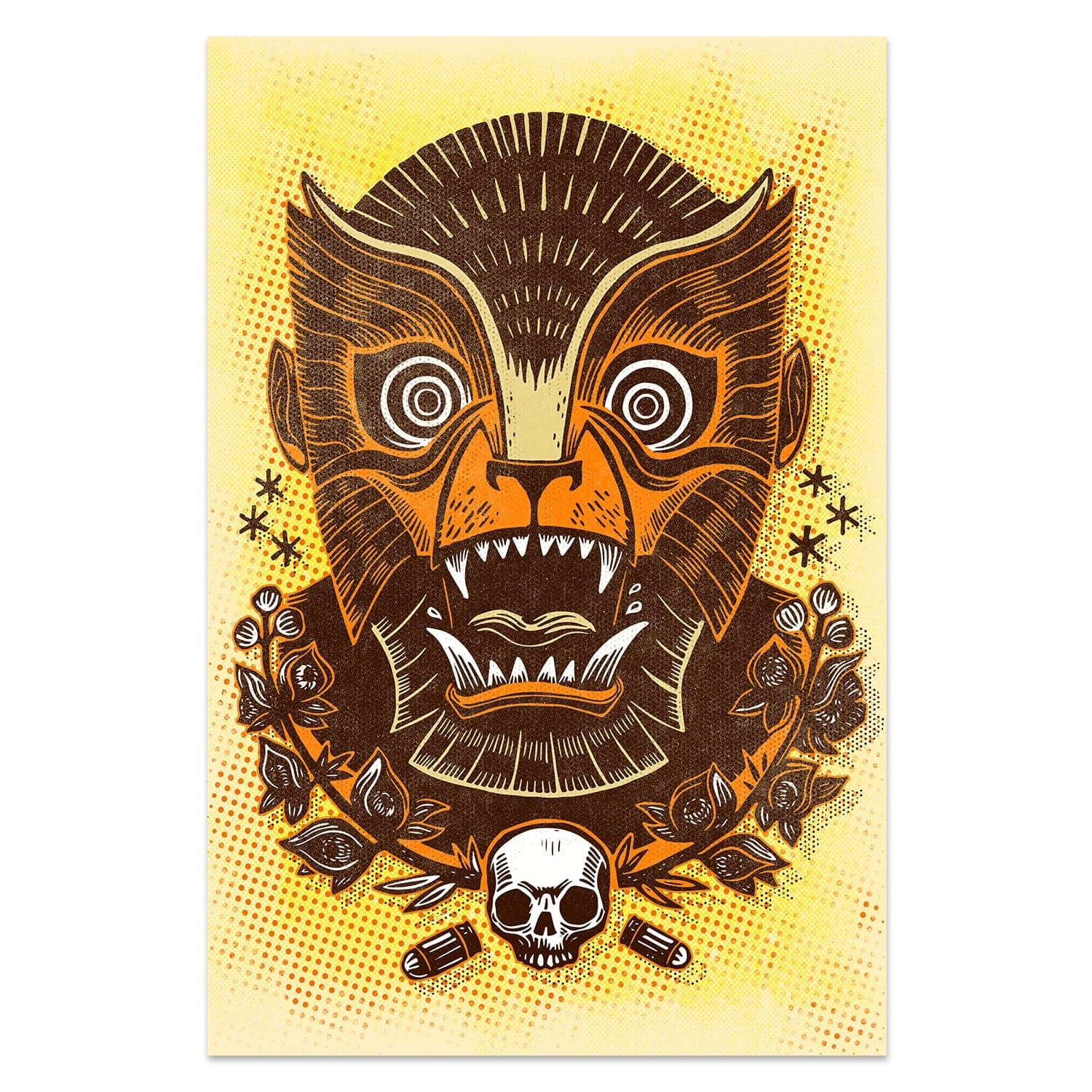 "Attack Peter ""Awaken Ye Wretched Werewolf"" - Screen Print"