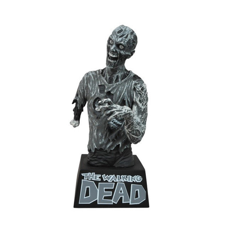 THE WALKING DEAD Zombie Black & White Bust Bank