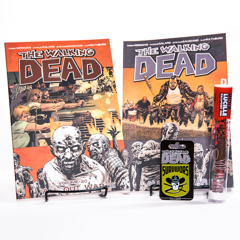 THE WALKING DEAD All Out War Bundle with Survivors Pin