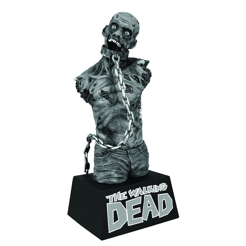 THE WALKING DEAD Pet Zombie Black & White Bust Bank